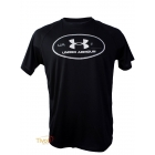 Camiseta Under Armour - Lockerteg Update Preta, Branca e Cinza