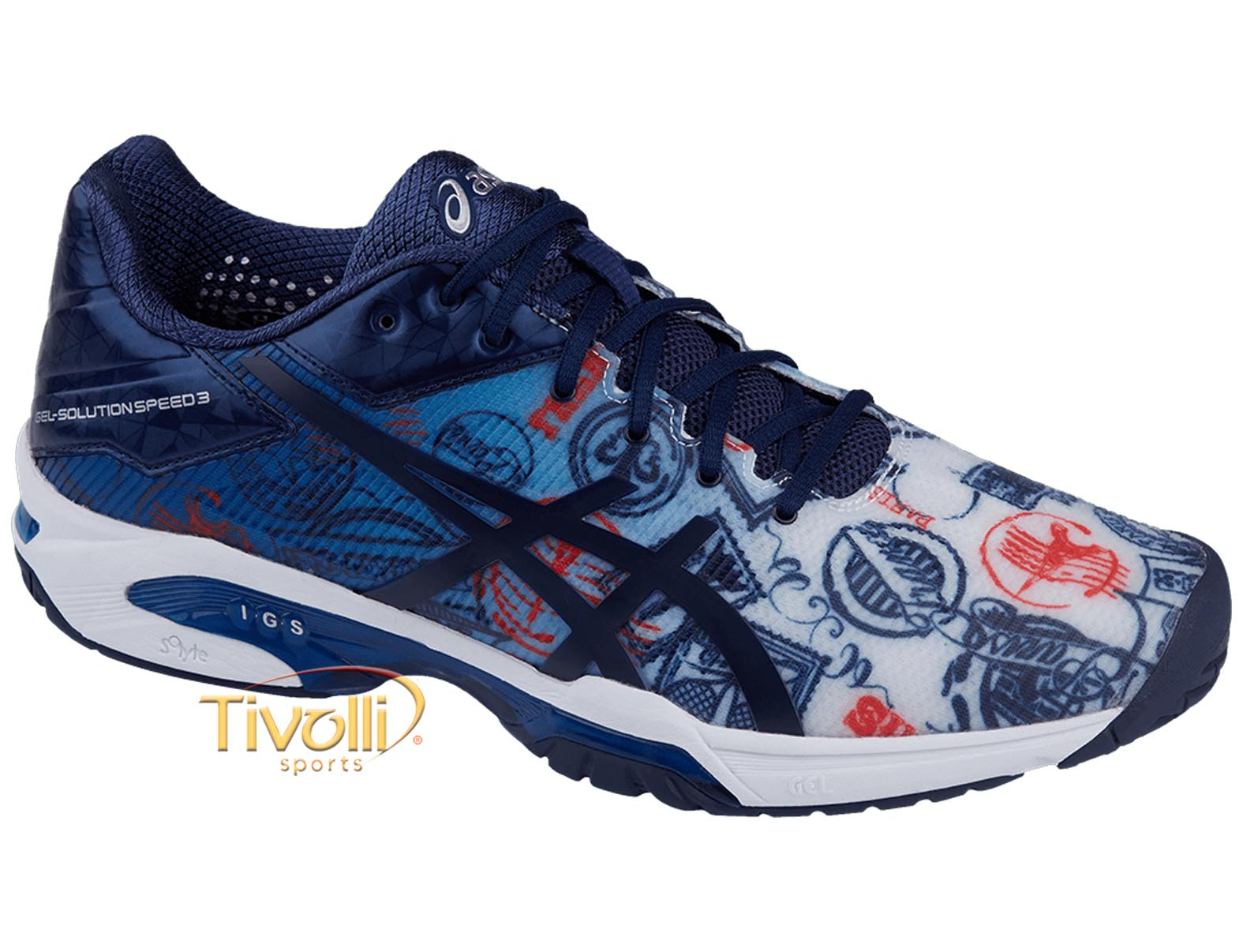 Tênis Asics Gel Solution Speed 3 L.E Paris